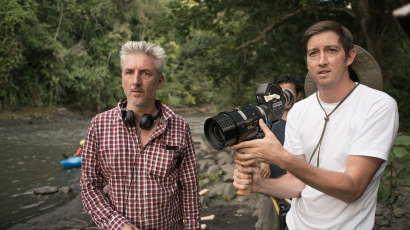Director Gred McLean with Cinematographer Greg McLean on location in Columbia filming Jungle - PHOTO Supplied