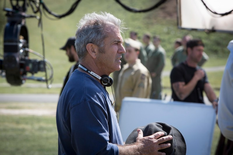 Director Mel Gibson filming on location with 'Hacksaw Ridge' - PHOTO Icon Films