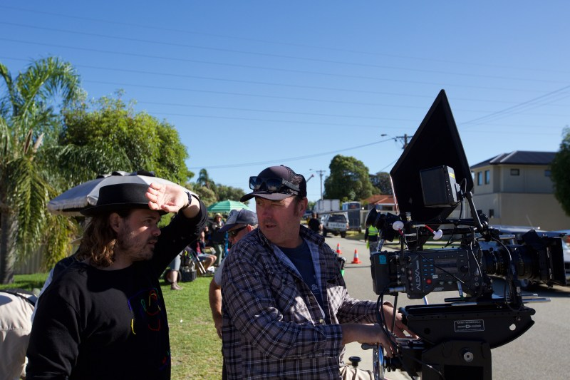 Director Ben Young and Cinematographer Michael McDermott on location filming 'Hounds of Love' - PHOTO Supplied