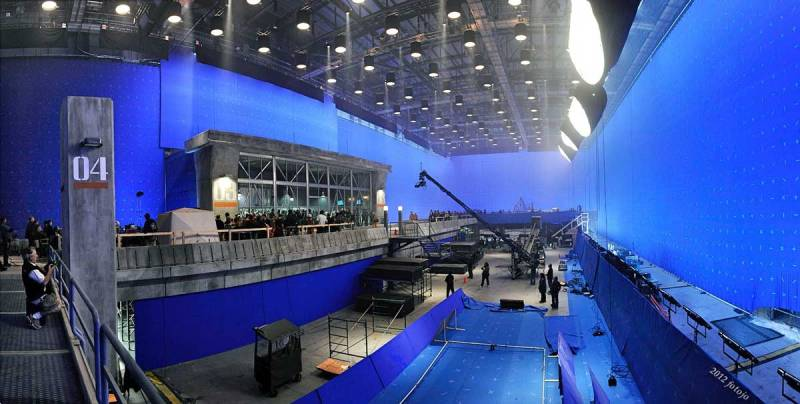 On Roland Emerich_s _2012_, sound stage lit with Kino Flows and Helium Balloons - PHOTO Supplied