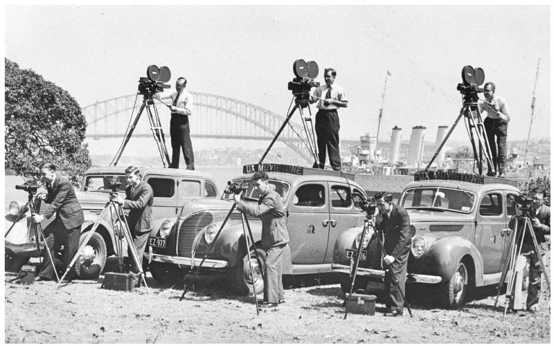 The Movietone Crew in 1938 - PHOTO Courtesy Ron Windon ACS