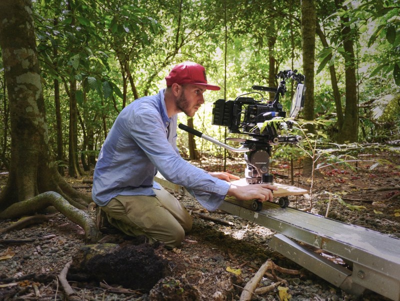 Cinematographer Michael Latham filming 'Island of the Hungry Ghosts' with the Alexa Mini on Christmas Island - PHOTO Arthur Floret