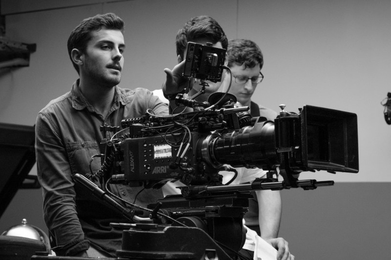 Cinematographer Sean Ryan on the set of 'And The Winner Is' - PHOTO Supplied
