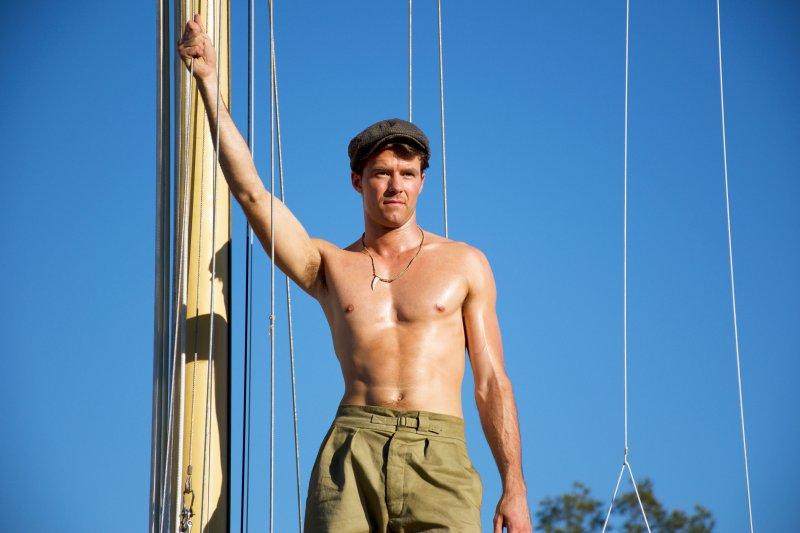 Errol Flynn (Thomas Cocquerel) aboard the Scirocco - PHOTO Supplied