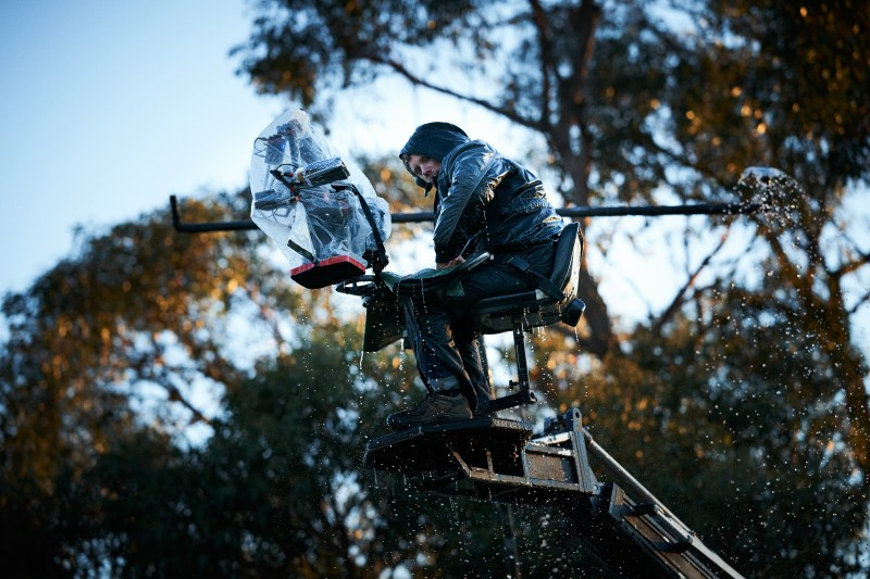 Cinematographer Aaron McLisky gets wet, on location with 'Glitch' - PHOTO Ben King