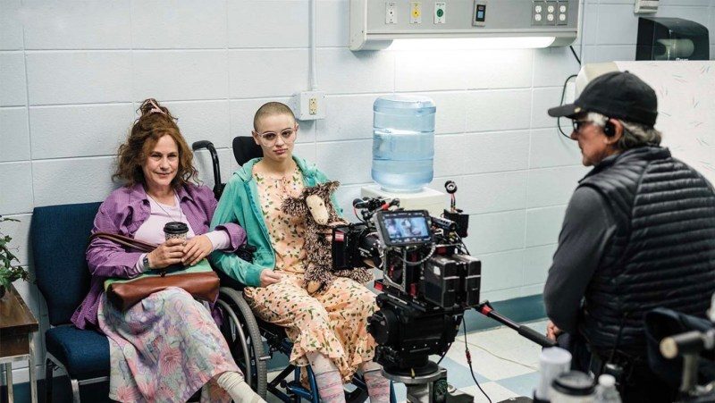Patricia Arquette (left) and Joey King on the set of 'The Act', with Richard Chapelle ACS behind-the-camera - PHTOTO Raymond Jones