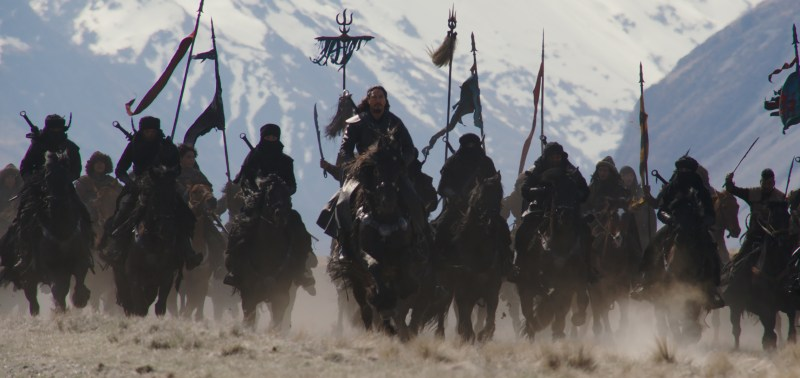 Jason Scott Lee as Bori Khan in a scene from 'Mulan' - DOP Mandy Walker ACS ASC