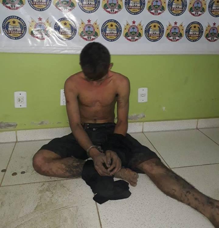 Deu ruim: Jovem é preso após várias tentativas de furtos no Bairro Vila Militar