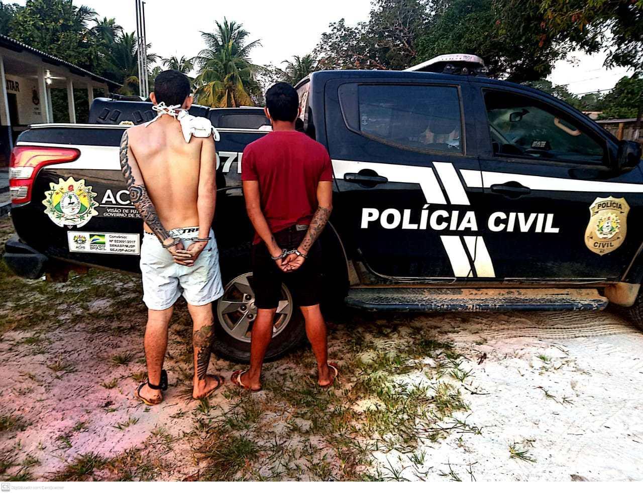 Acusados de tráfico de droga e organização criminosa são presos em Mâncio Lima