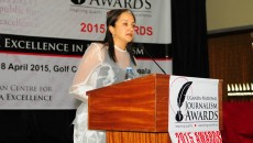 Keynote speaker Ferial Haffajee, editor-in-chief of City Press