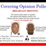 Covering Opinion Polls with Patrick Wakida and Francis Kibirige