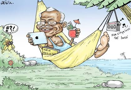Winning entry - Amama Mbabazi, The Secretly General
