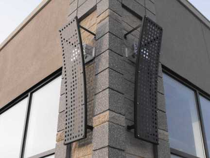 Steel architectural accent