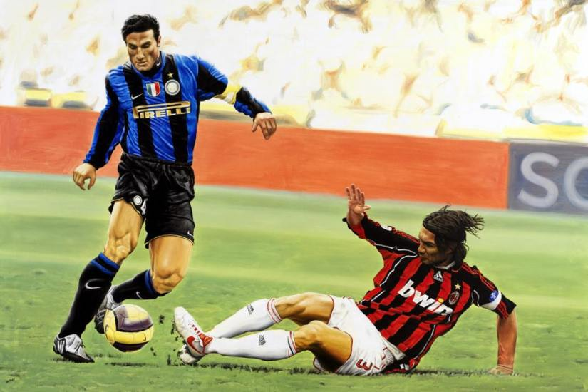 Milano'nun 2 efsane kaptanı: J.Zanetti - P.Maldini