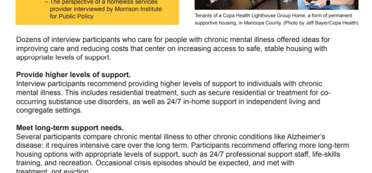 """Results are in!! ASU study """"Housing is Health Care"""": The Impact of Supportive Housing on the Costs of Chronic Mental Illness"""