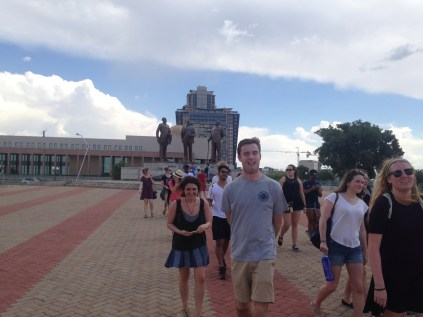 ACM squad moving out from the monument