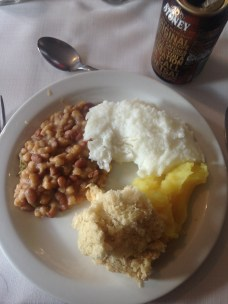 Our lunch in Soweto, in Joburg, with samp and beans, pap, and MASHED POTATOES!! (I was so excited). There were other things too, but I just got these cause I was so excited by the mashed potatoes and samp and beans