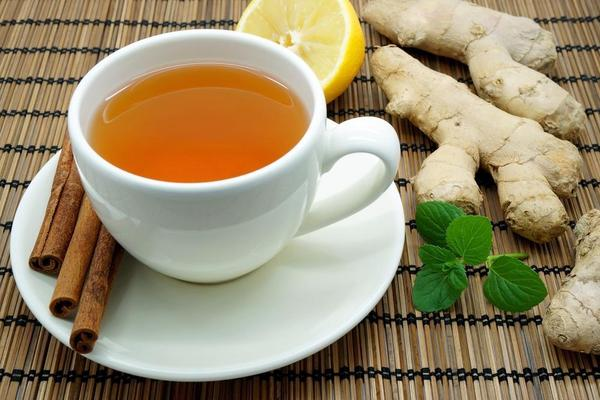 grean tea with ginger for acne