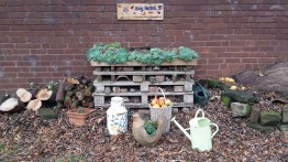 New sign on Bug Hotel