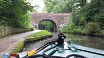 View of Vineries Bridge from the barge.