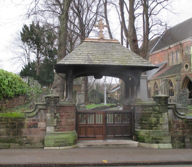 Refurbished lychgate. For years one of the gates was absent, rehung and repaired by ViB