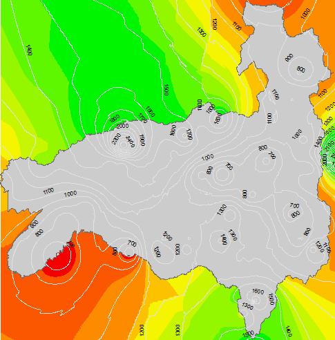 Mapa de isoyetas en ArcGIS