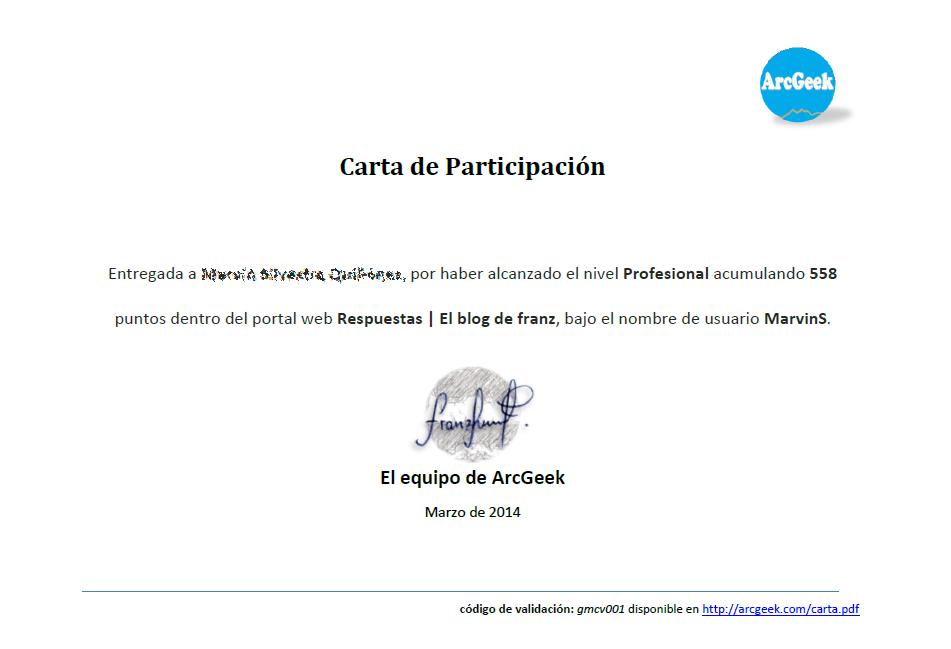 Carta de participación
