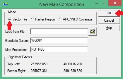 ER Mapper New Map Composition