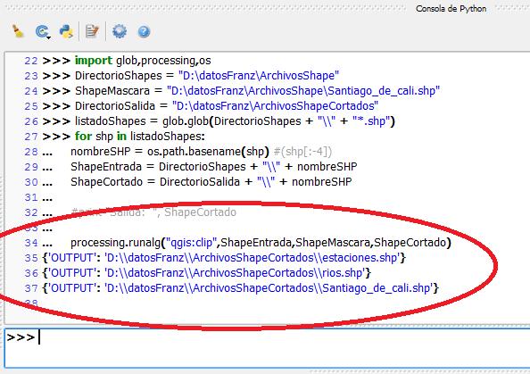 Importar comandos Python