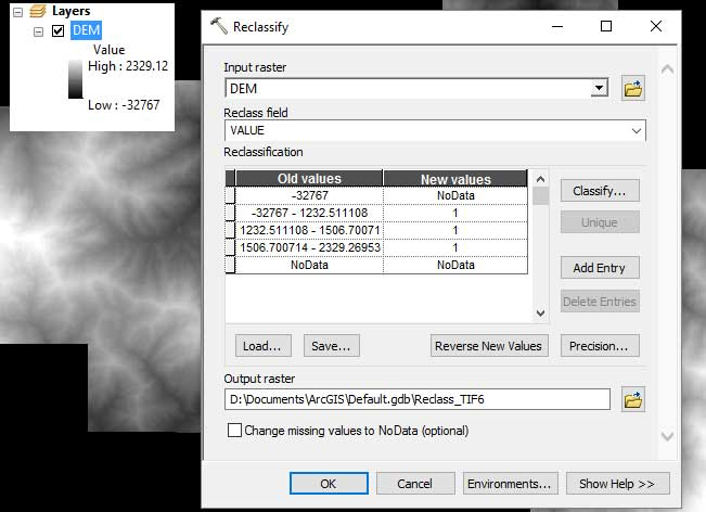 Remove NoData values in a raster using ArcGIS – GeoGeek
