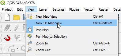 3D Map View en QGIS 3