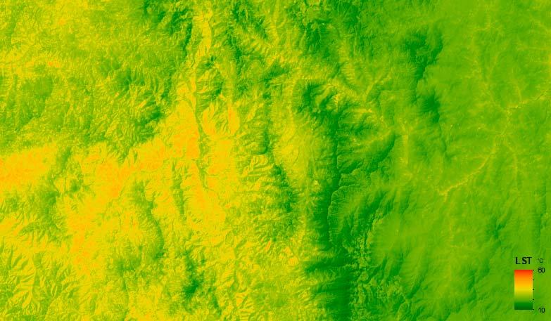 LST Landsat calcular la temperatura de superficie