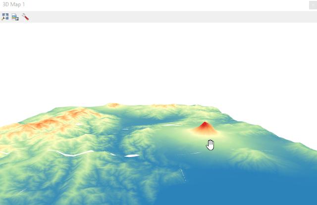 Vista en 3D de un DEM en QGIS 3