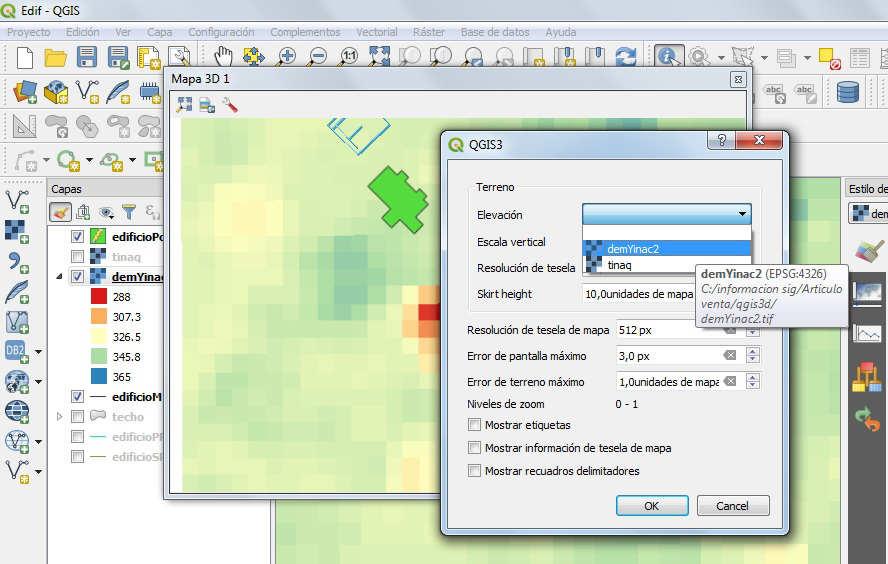 Vista 3D QGIS 3