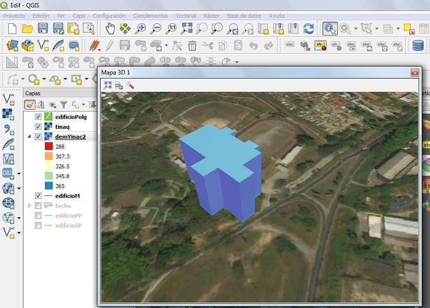 Edificación 3D QGIS 3
