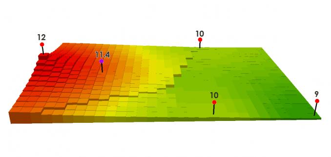 Interpolación de Ponderación de Distancia Inversa (IDW)