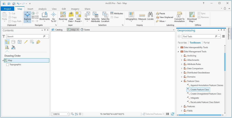 Crear un nuevo shapefile en ArcGIS Pro