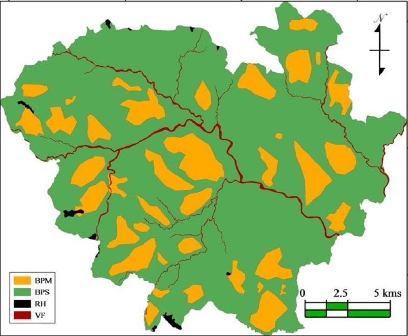 Mapa de unidades hidromorfológicas