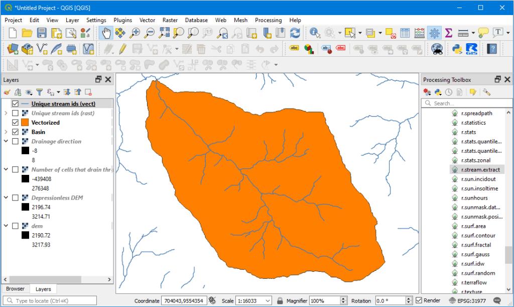 Delimitar una cuenca hidrográfica en QGIS 3