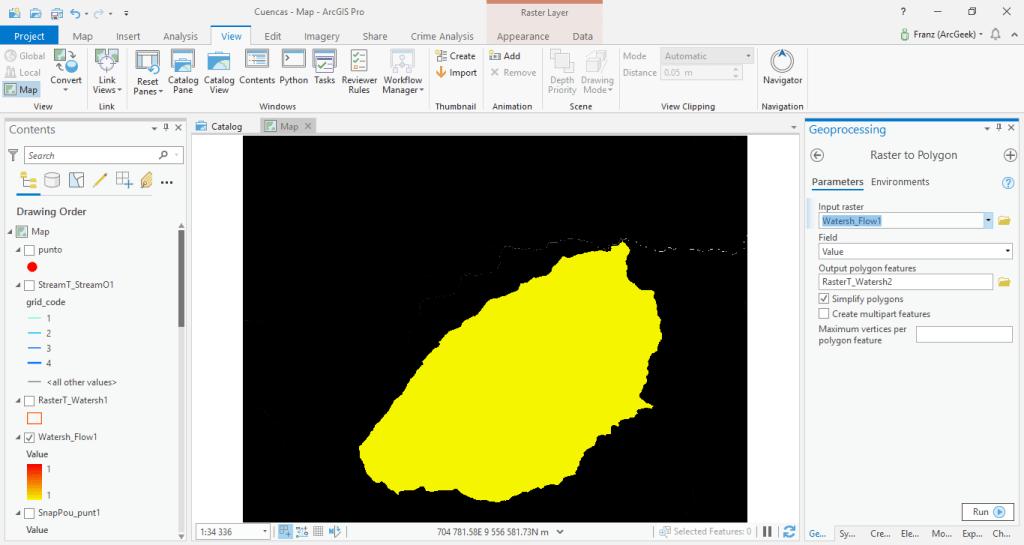 Raster to Polygon ArcGIS Pro