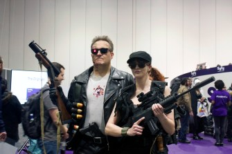 The Terminator and Sarah Conner