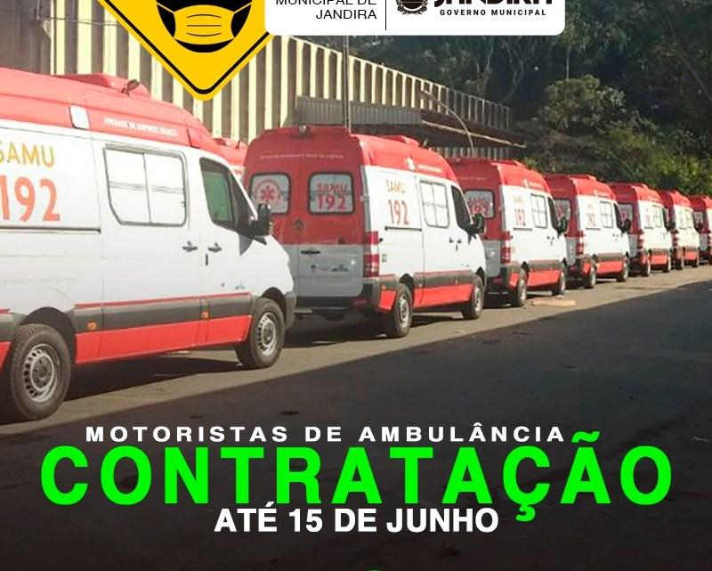 Jandira abre Chamamento Público para contratação de motoristas de ambulância