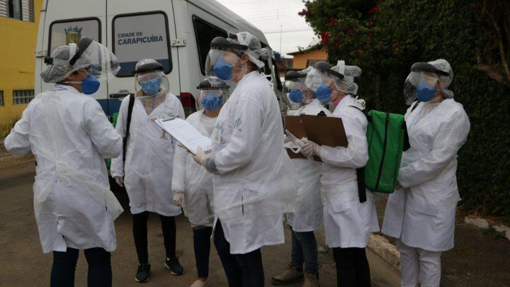 Prefeitura de Carapicuíba realiza ação de 'Bloqueio de Contágio' nas ruas da cidade