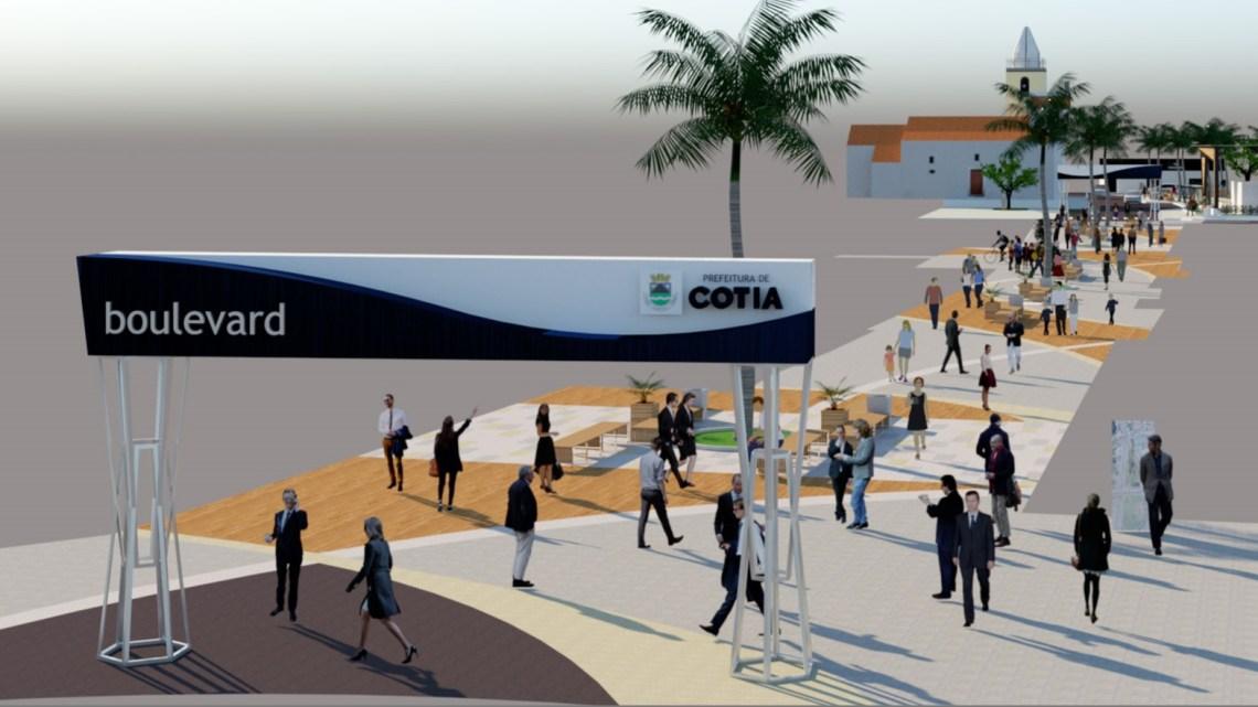Revitaliza Cotia vai remodelar toda região central com intervenções viárias e paisagismo