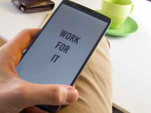 phone with motivational message