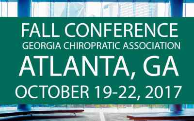 22nd 2017 Fall Conference Georgia Chiropractic Association