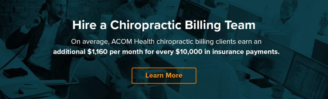Chiropractic Billing Guide for 2019 | Tips and Advice | ACOM Health