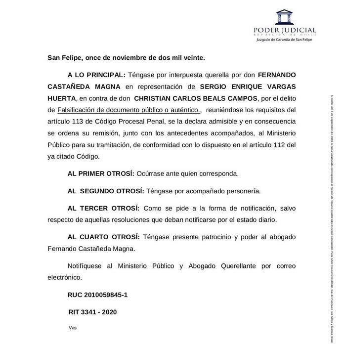 falsificación de documento público