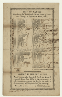 July 4, 1807 notice to persons for September circuit court session