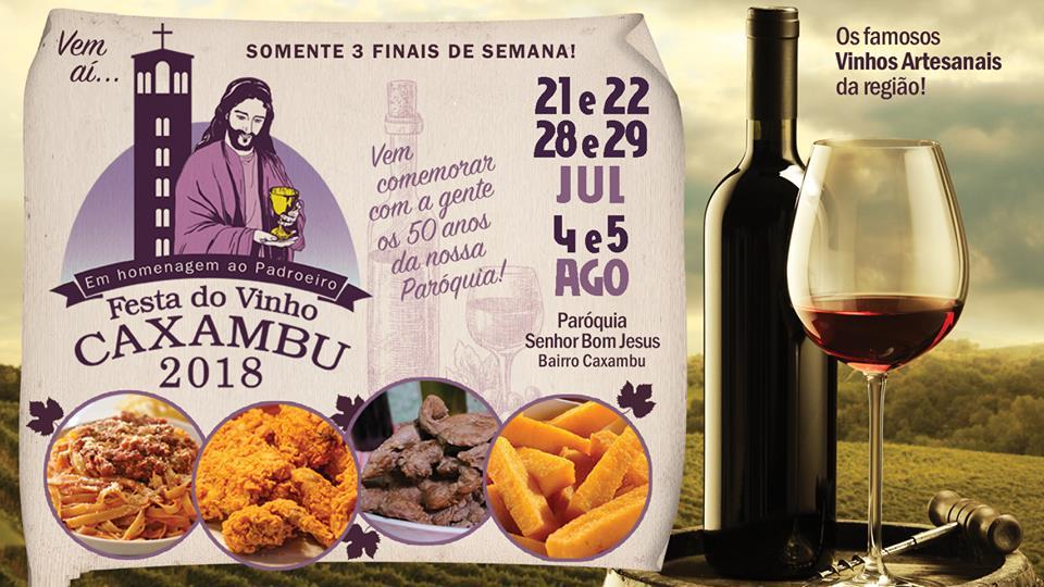 Festa do Caxambu e do Vinho Artesanal começa neste final de semana